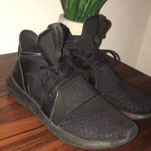 adidas Shoes - Adidas Black Tubular High Top